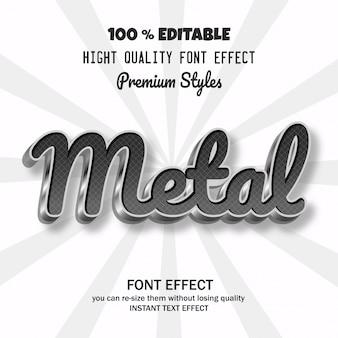 クールな効果を持つモダンな金属フォント