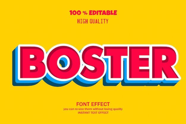 ブースターテキスト、編集可能なフォント効果