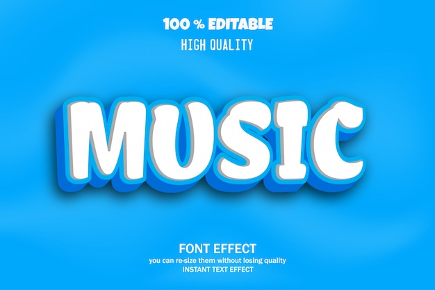 Музыкальный текст, эффект редактируемого шрифта
