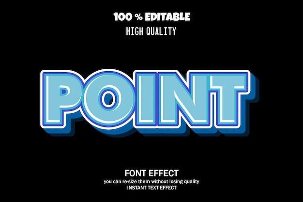 ポイント編集可能なフォント効果