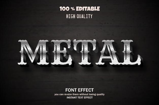 Металлический текстовый эффект, редактируемый шрифт