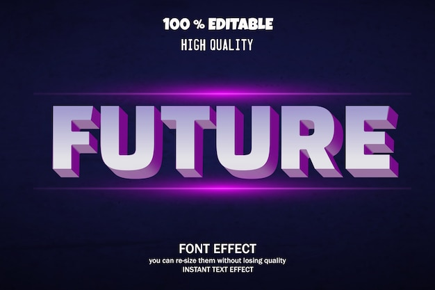 Современный эффект шрифта, редактируемый шрифт