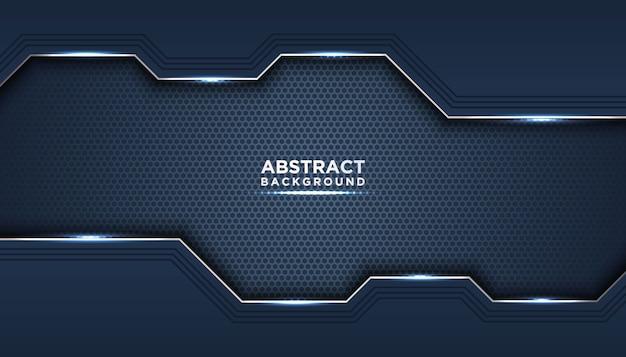 濃い青の濃い抽象的な背景はレイヤーをオーバーラップします。