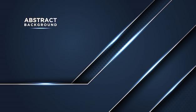 Темный абстрактный фон с синими слоями перекрытия.