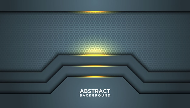 Темный абстрактный фон с перекрытием слоев. текстура с золотой эффект элемента украшения.