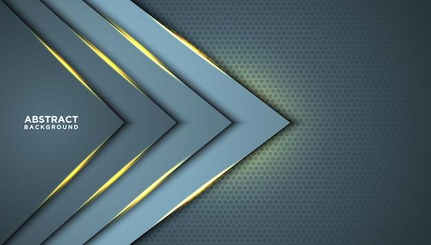 オーバーラップレイヤーと暗い抽象的な背景。黄金の効果要素の装飾を持つテクスチャー。豪華なデザインコンセプト。