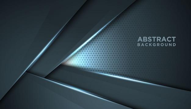 オーバーラップレイヤーと暗い抽象的な背景。豪華なデザインコンセプト。