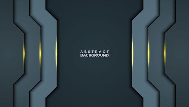 黒い抽象レイヤーと黒い抽象レイヤー。黄金の効果要素の装飾を持つテクスチャー。