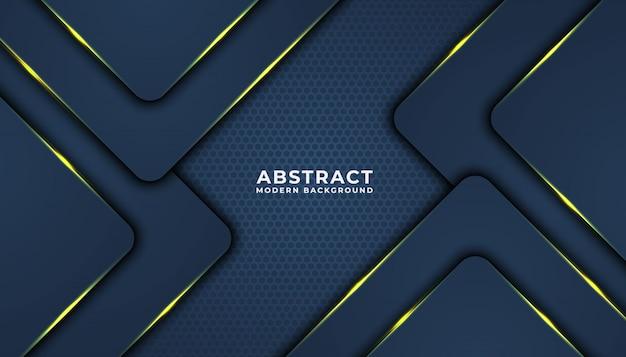 Темный абстрактный фон с черными слоями перекрытия. текстура с золотым эффектом. концепция дизайна класса люкс.