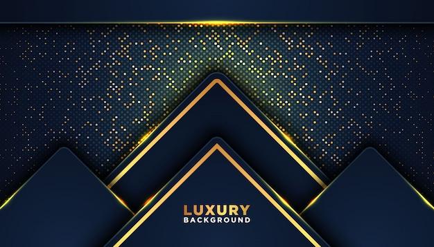 Темный абстрактный фон с перекрытием слоев. концепция дизайна класса люкс. золотые блестки точек элемент украшения. концепция дизайна класса люкс.