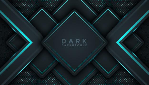 Синий абстрактный размер черный фон