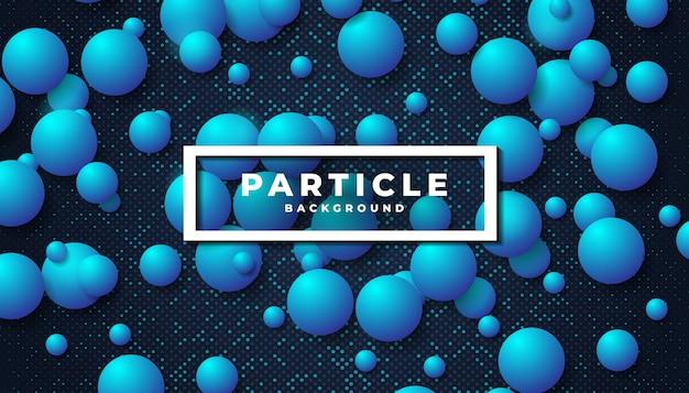 Синий фон частицы