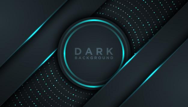 Темный абстрактный фон с наложением слоев