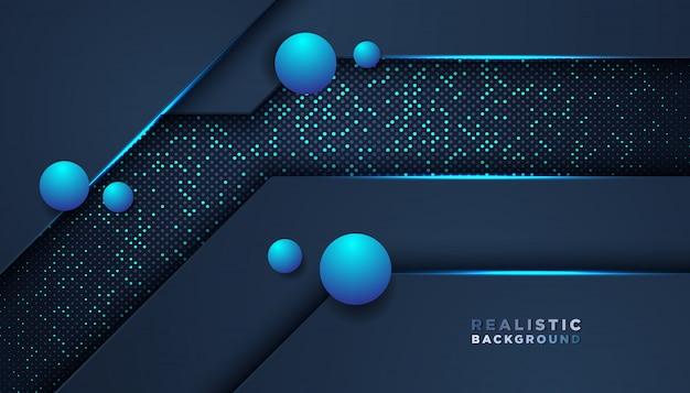 濃い青のオーバーラップレイヤーと暗い抽象的な背景