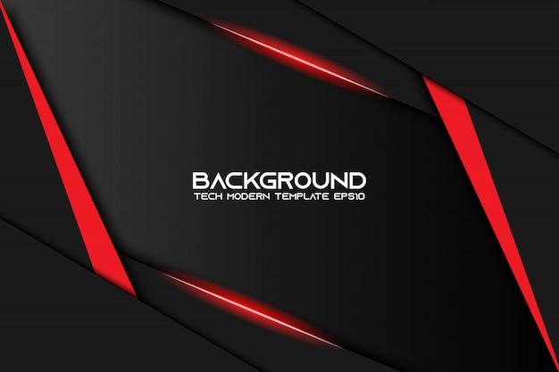 抽象的な金属赤黒フレームレイアウトのモダンなハイテクデザインテンプレートの背景