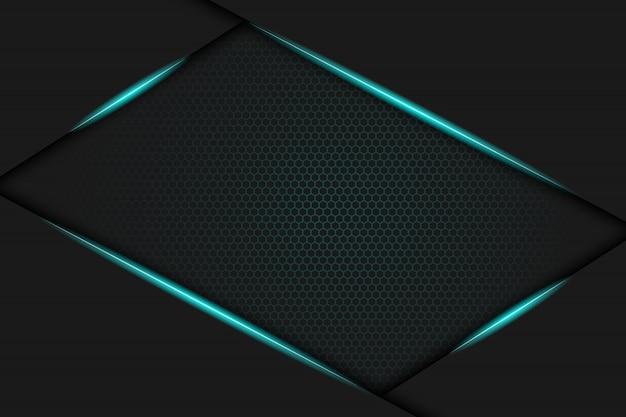 青い金属フレームの背景デザイン。ベクトルイラスト