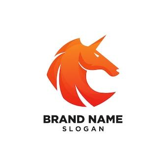 Лошадь шаблон логотипа дизайн вдохновение