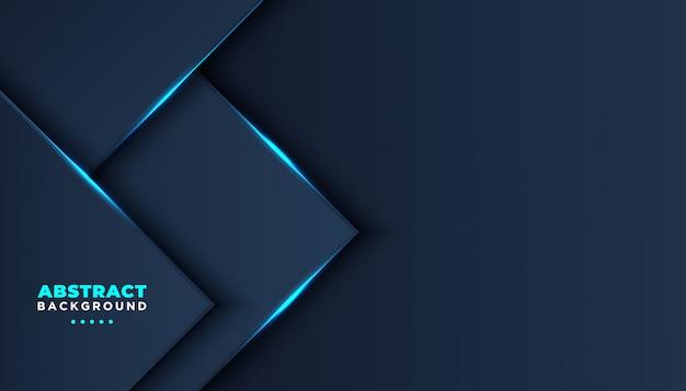 Темный абстрактный фон с темно-синими слоями перекрытия.