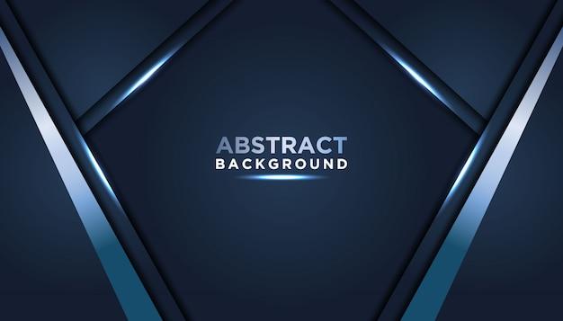Темный абстрактный фон с темно-синими слоями перекрытия