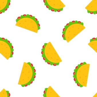 国立タコス日お祝いデザインのシームレスパターン