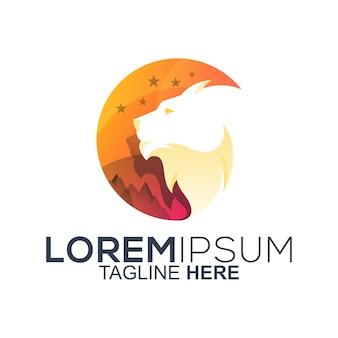 ライオンヘッドのロゴデザイン