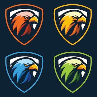 Орел голова логотип вектор