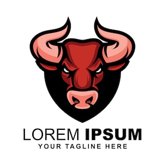Логотип бычьей головы
