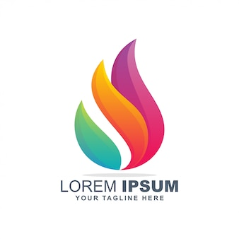Красочный логотип пламени