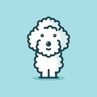 かわいいプードル犬イラストデザイン