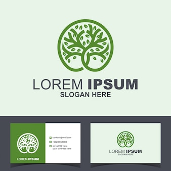 Круг дерево зеленый рост логотип