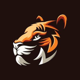 素晴らしい虎の頭のイラストデザイン