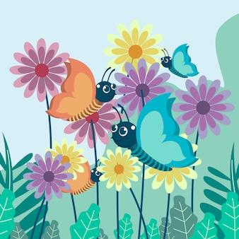 蝶のベクトルイラスト