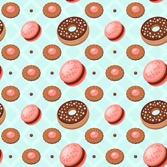 デザートクッキーのパターン