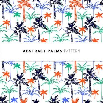 抽象的なヤシの木パターン