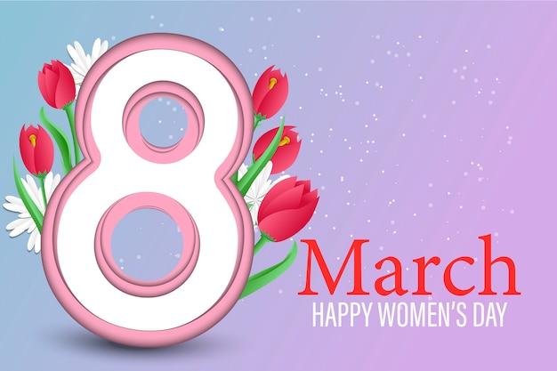 Фон международного женского дня