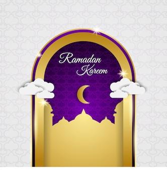 ラマダンの月の金のドアのデザイン