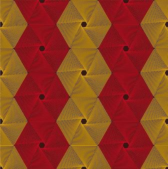 レトロな抽象的な六角形の幾何学的な質感。生地の模様。