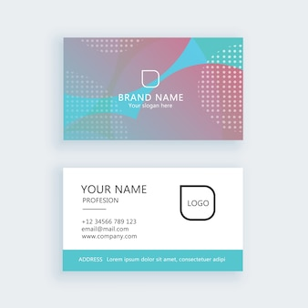 Современный простой набор визиток, шаблон или визитная карточка