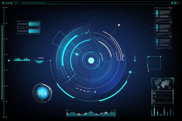 未来的なデザイン画面