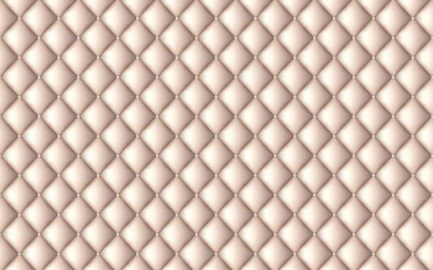 Векторная абстрактная обивка или бежевый кожаный фон текстуры дивана