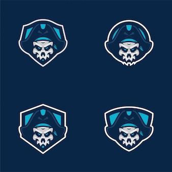 Наклейки с черепами-пиратами