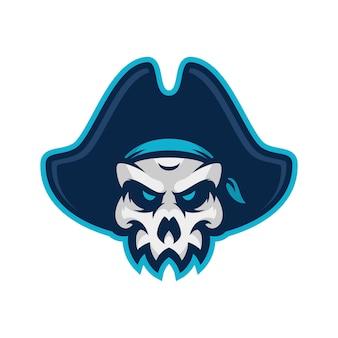 Скалл пират спорт и эспортный логос