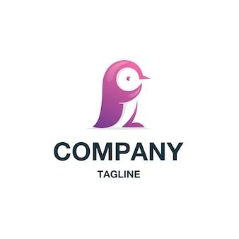 ペンギンのロゴのベクトル