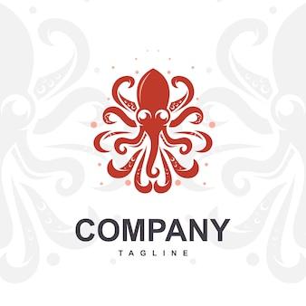タコのロゴのベクトル