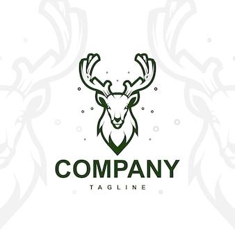 鹿のロゴのベクトル