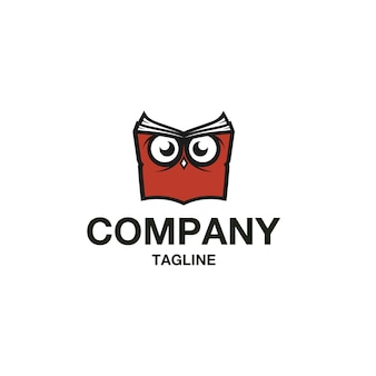 フクロウ本のロゴのベクトル