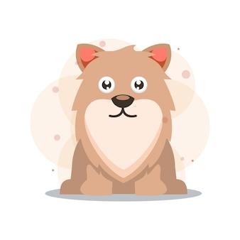 犬かわいいマスコットイラスト