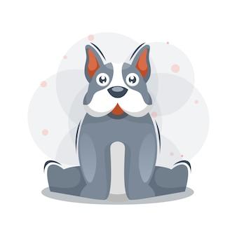 かわいい子犬の図