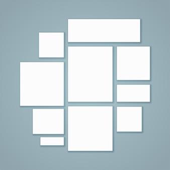 Чистый белый бумажный холст
