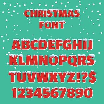 Рождественский праздник вектор красный шрифт